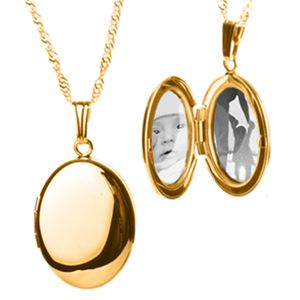 14K Gold Filled Personalized Oval Locket