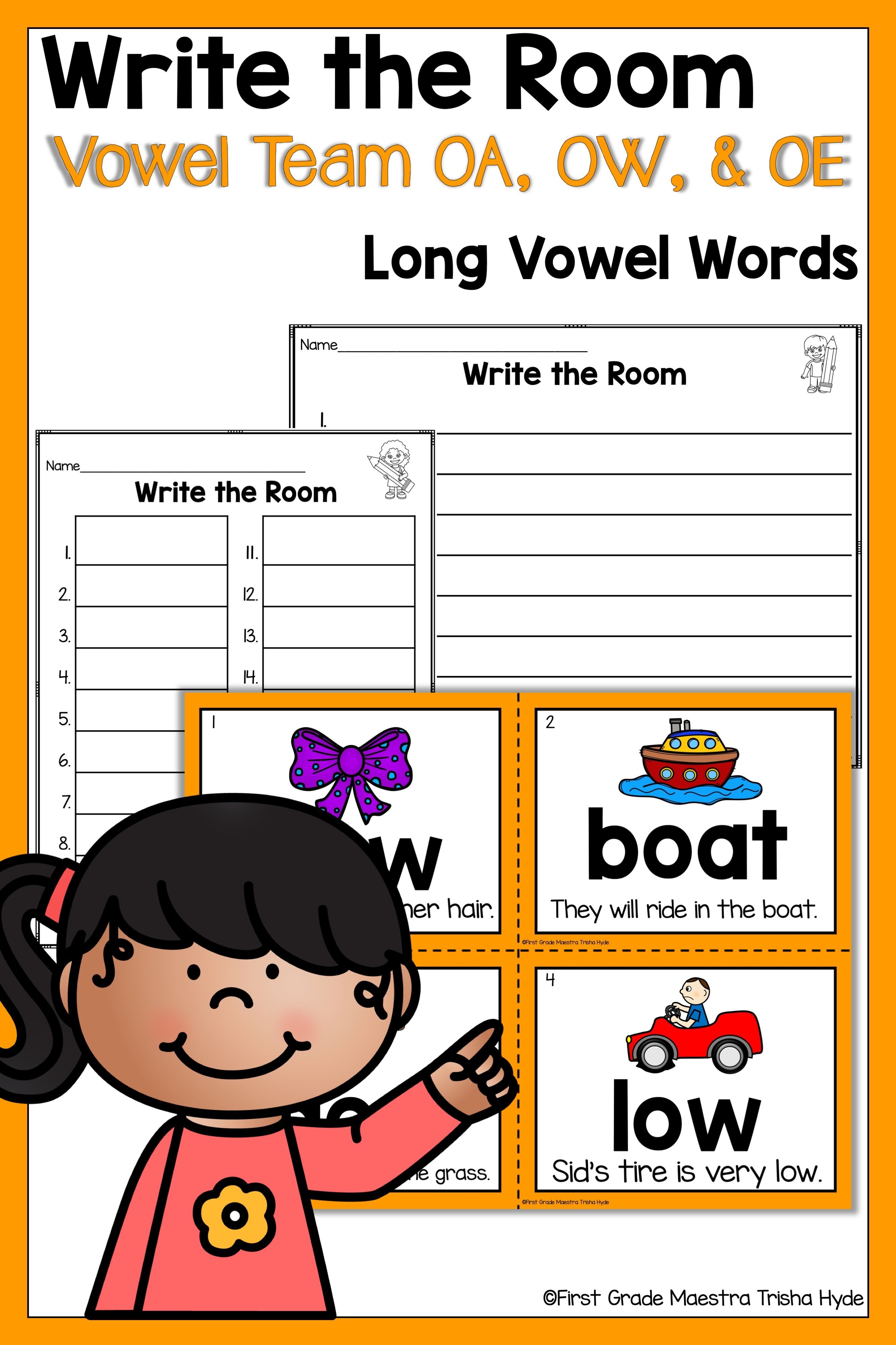 Write The Room Vowel Team Oa Ow And Oe