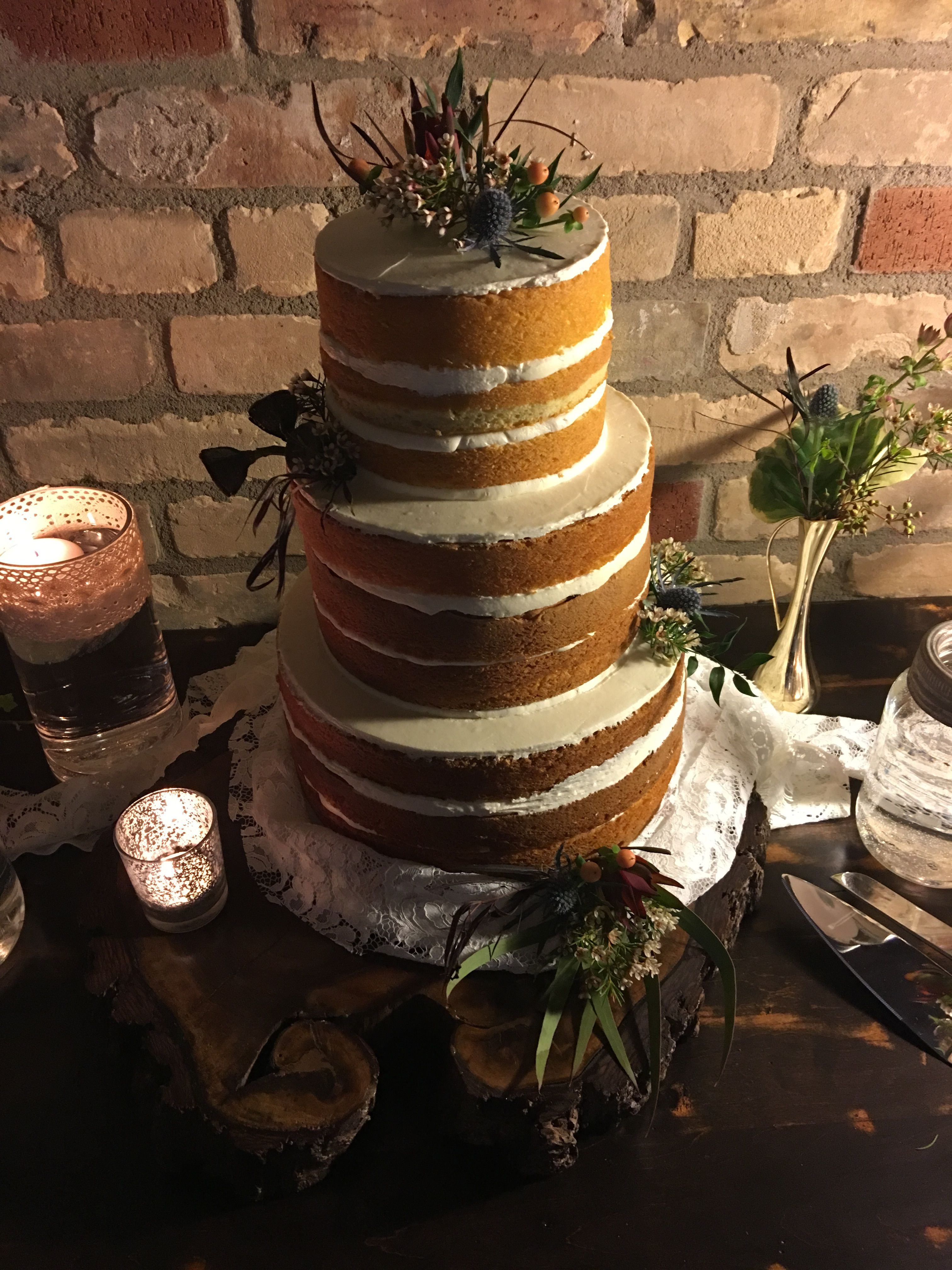 Our brides naked cake