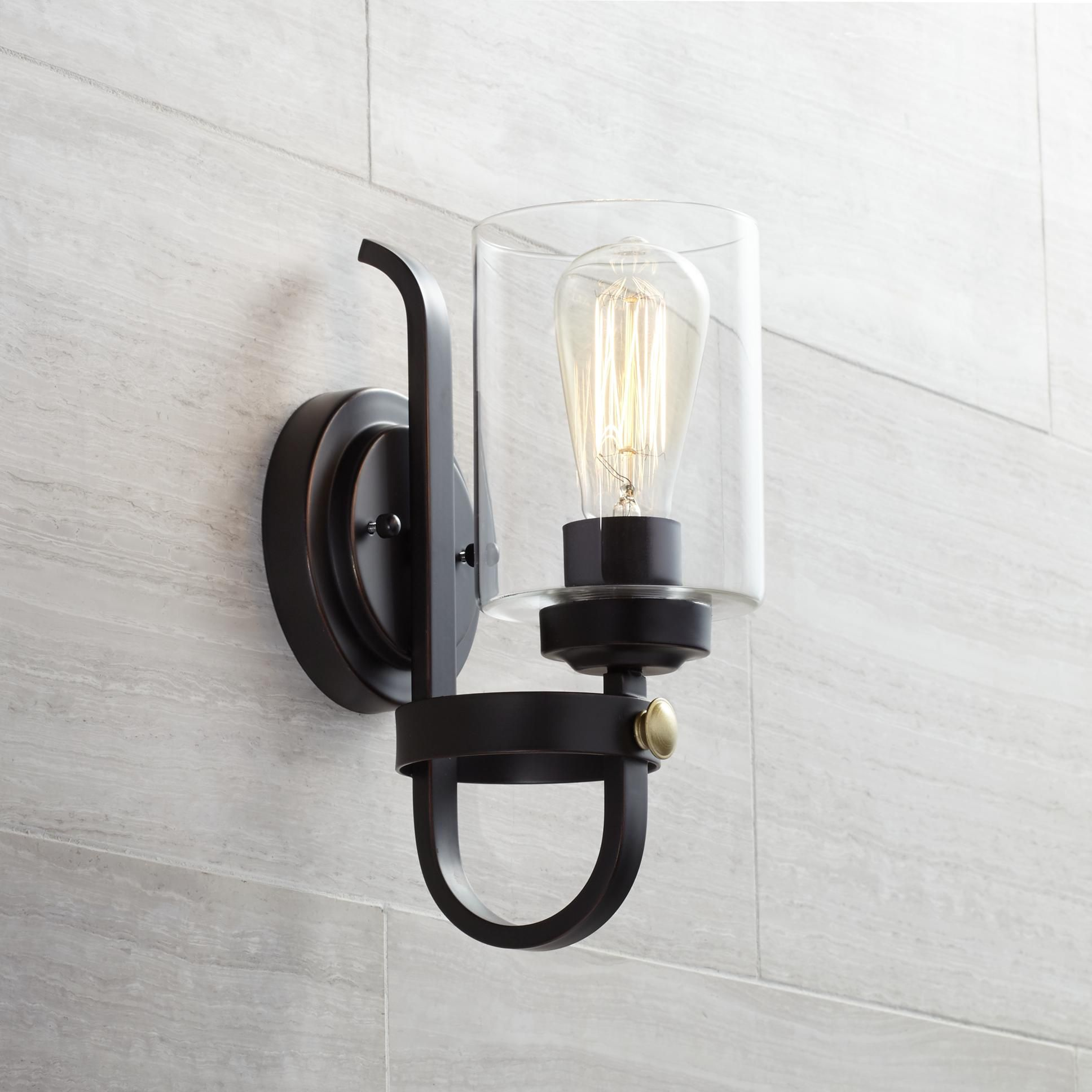 Eagleton 12 High Oil Rubbed Bronze Wall Sconce