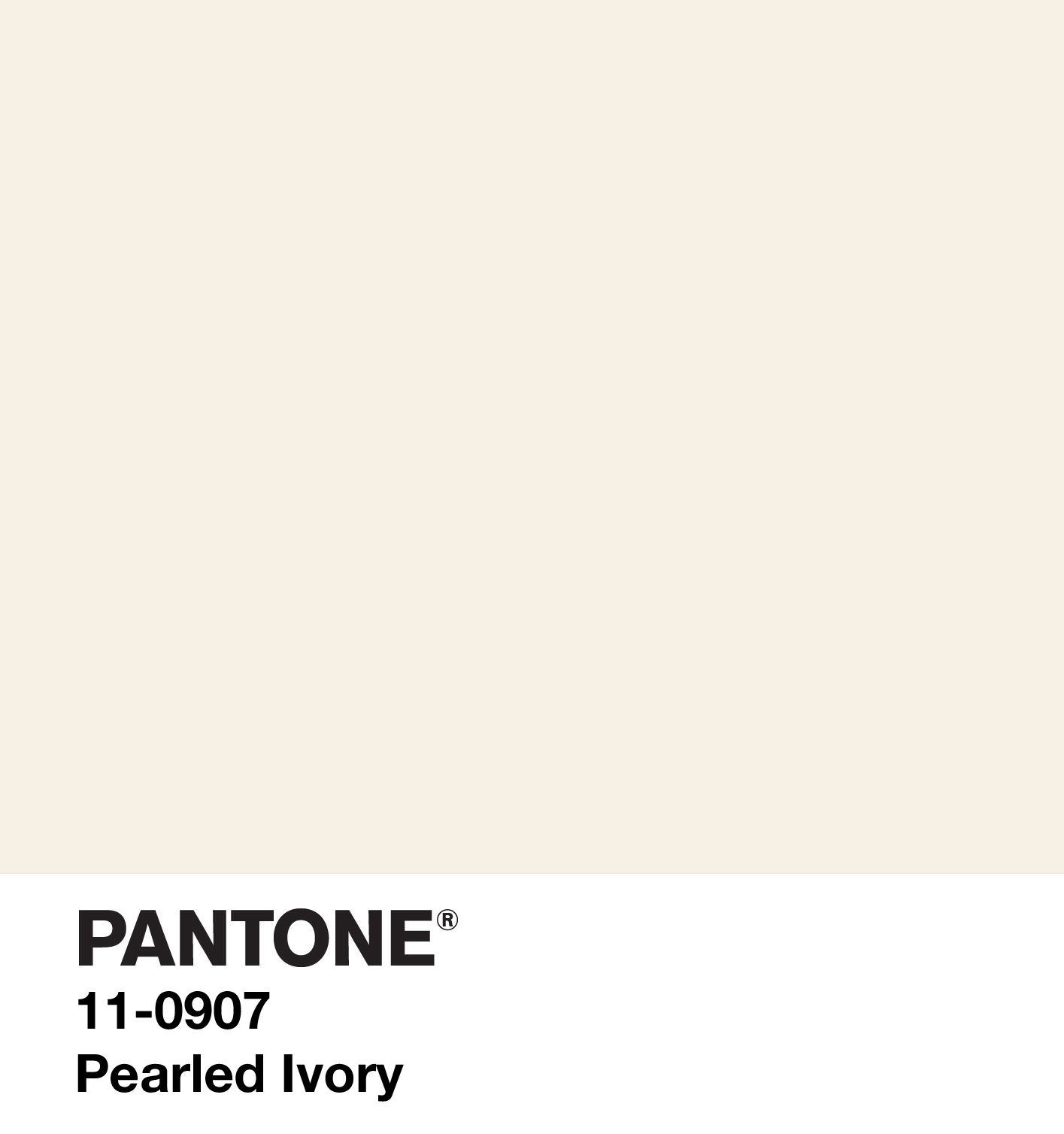 PANTONE 11-0907 TPG Pearled Ivory Replacement Page