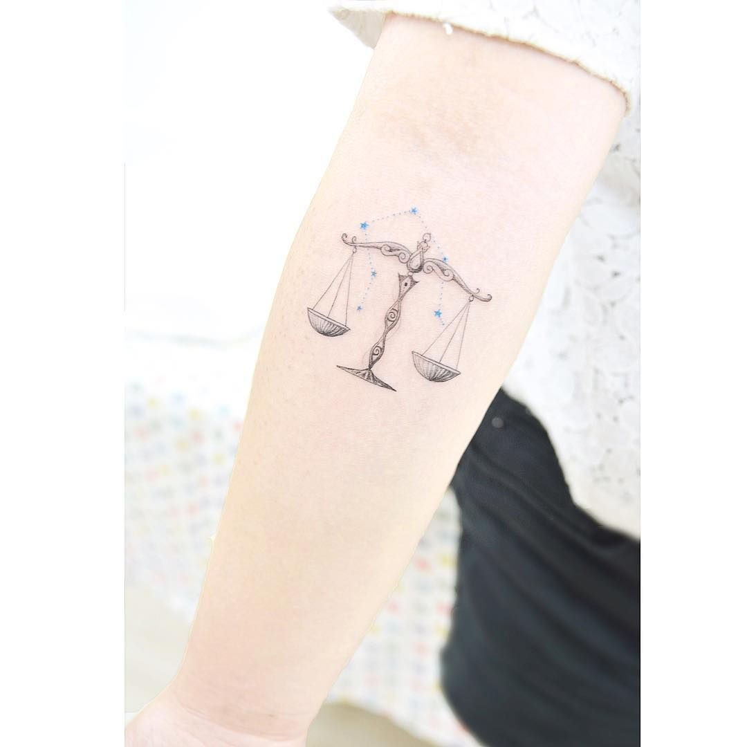 Libra constellation ⭐ 천칭자리 . . #tattooistbanul #tattoo ...