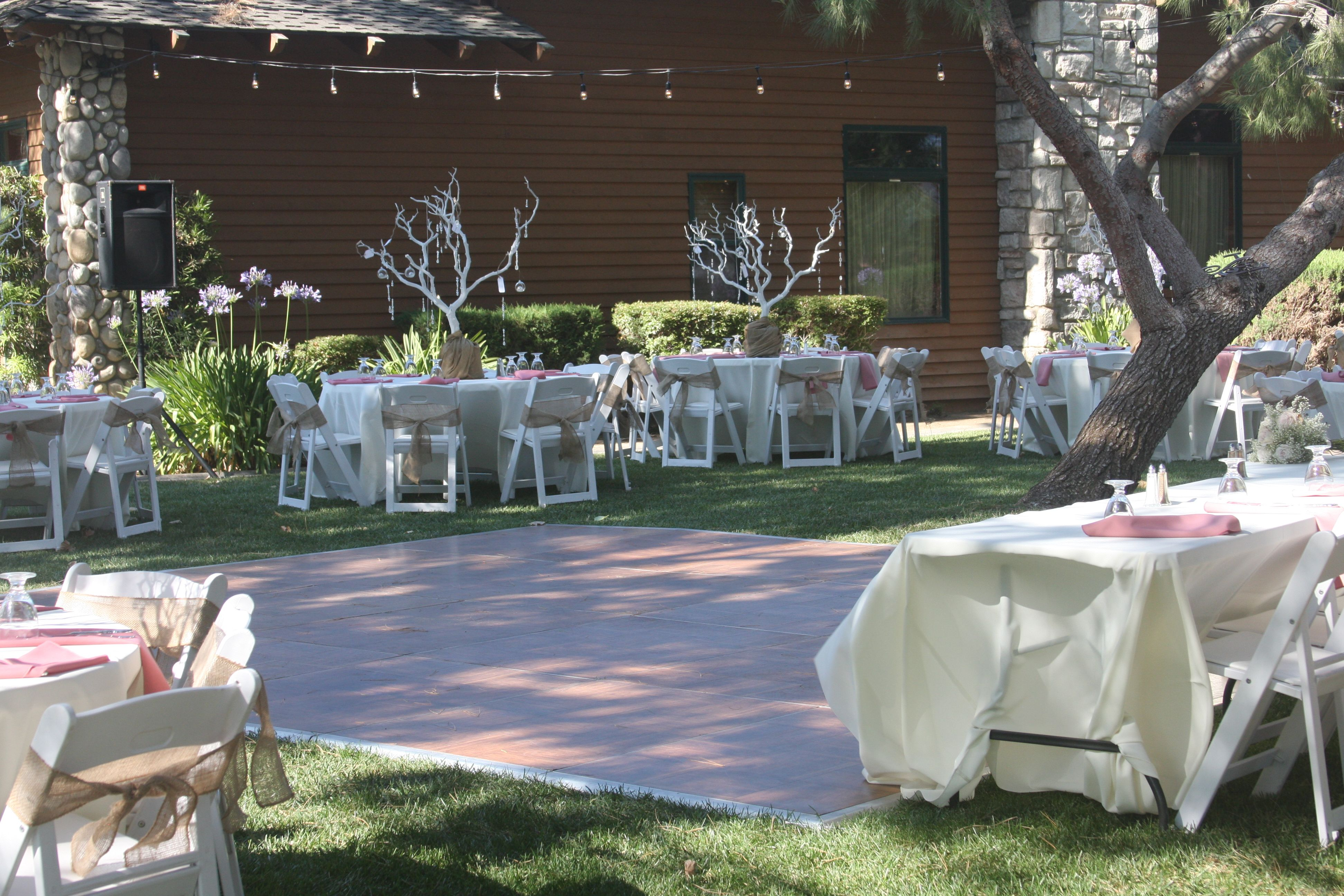 Outdoor dance floor set up for your special day! # ...
