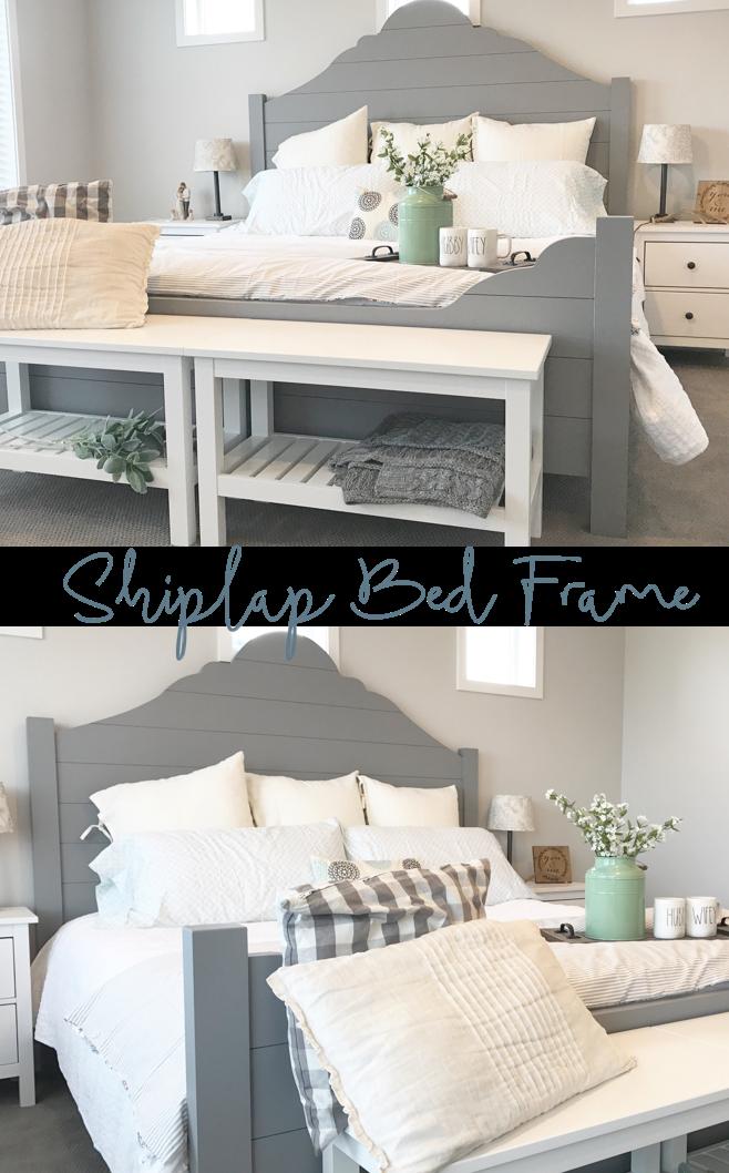 Diy Shiplap Bed Frame Home Decor Bedroom Bedroom Decor Home