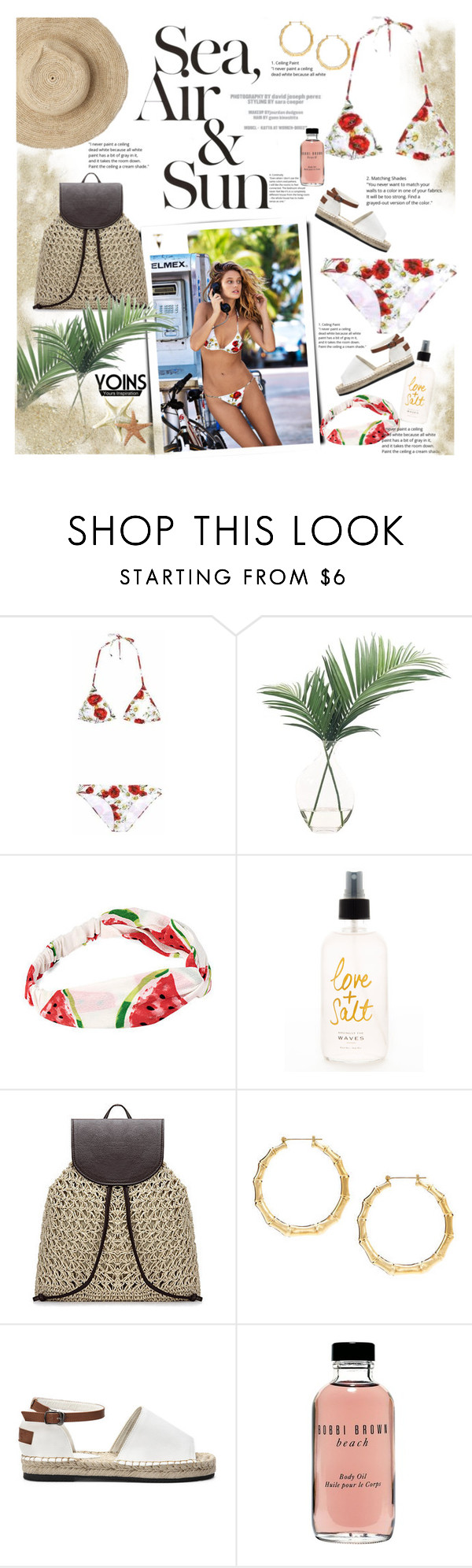 """""""Summer with Yoins"""" by naki14 ❤ liked on Polyvore featuring Dolce&Gabbana, NDI, Valentino, Oysho, Bobbi Brown Cosmetics, yoins, yoinscollection and loveyoins"""
