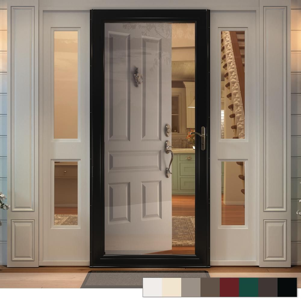 Andersen 3000 Series Full View Interchangeable Aluminum Storm Door Aluminum Storm Doors Glass Storm Doors Exterior Doors