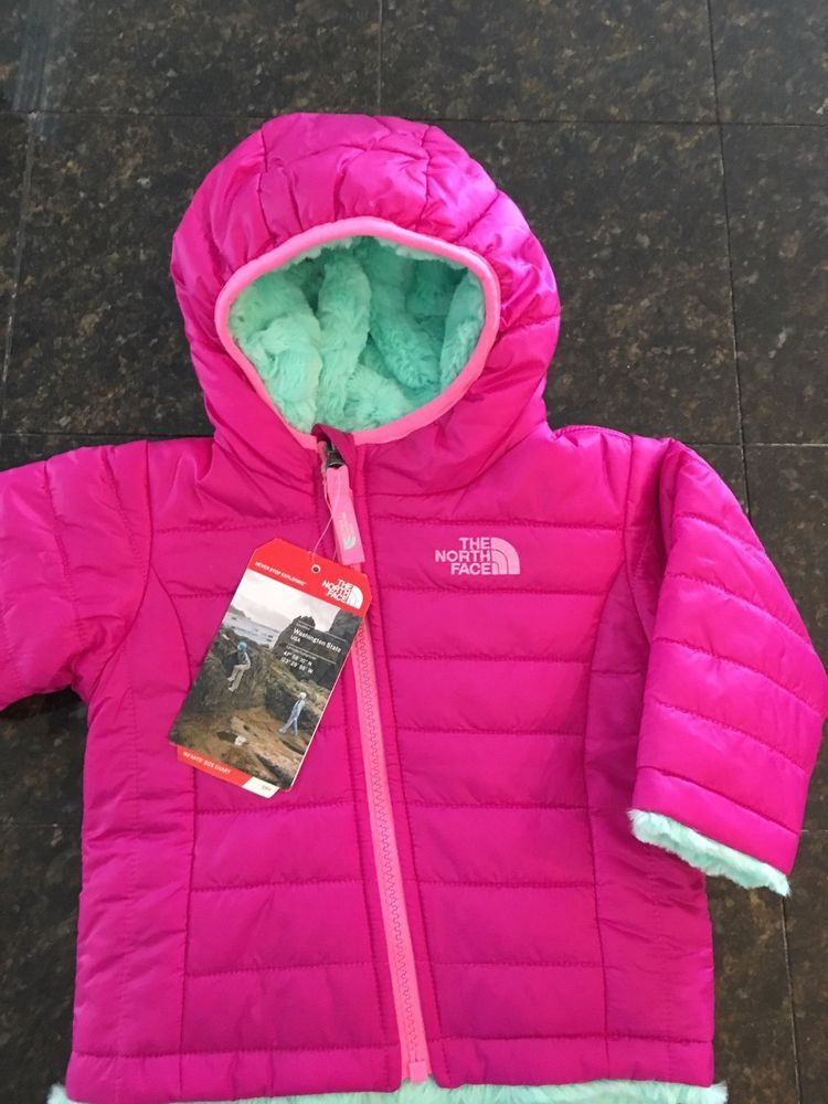13298cf05 The North Face Baby Girls Reversible Mossbud Jacket 3-6 Months Pink ...