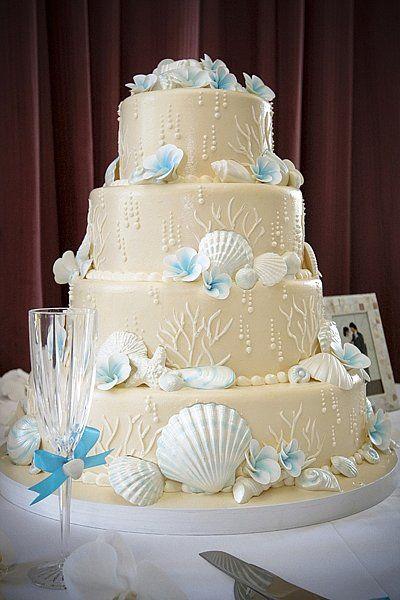 Elegant Beach Themed Wedding Cakes Design | Luscious Gowns ...