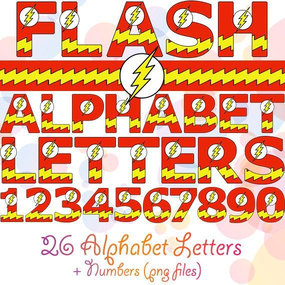 Superhero Flash Alphabet Letters And Numbers For Nursery Birthday