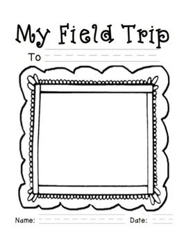 Field Trip Reflection Journal Kindergarten Writing First Grade