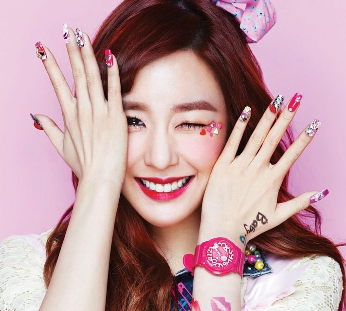 Korean Celebrity Inspired Wants Nail Art Tiffany Nails Inspirational Celebrities Korean Nails