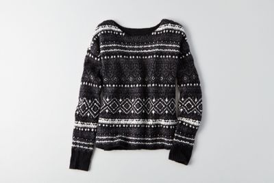 aeo patterned crew sweateramerican eagle outfitters
