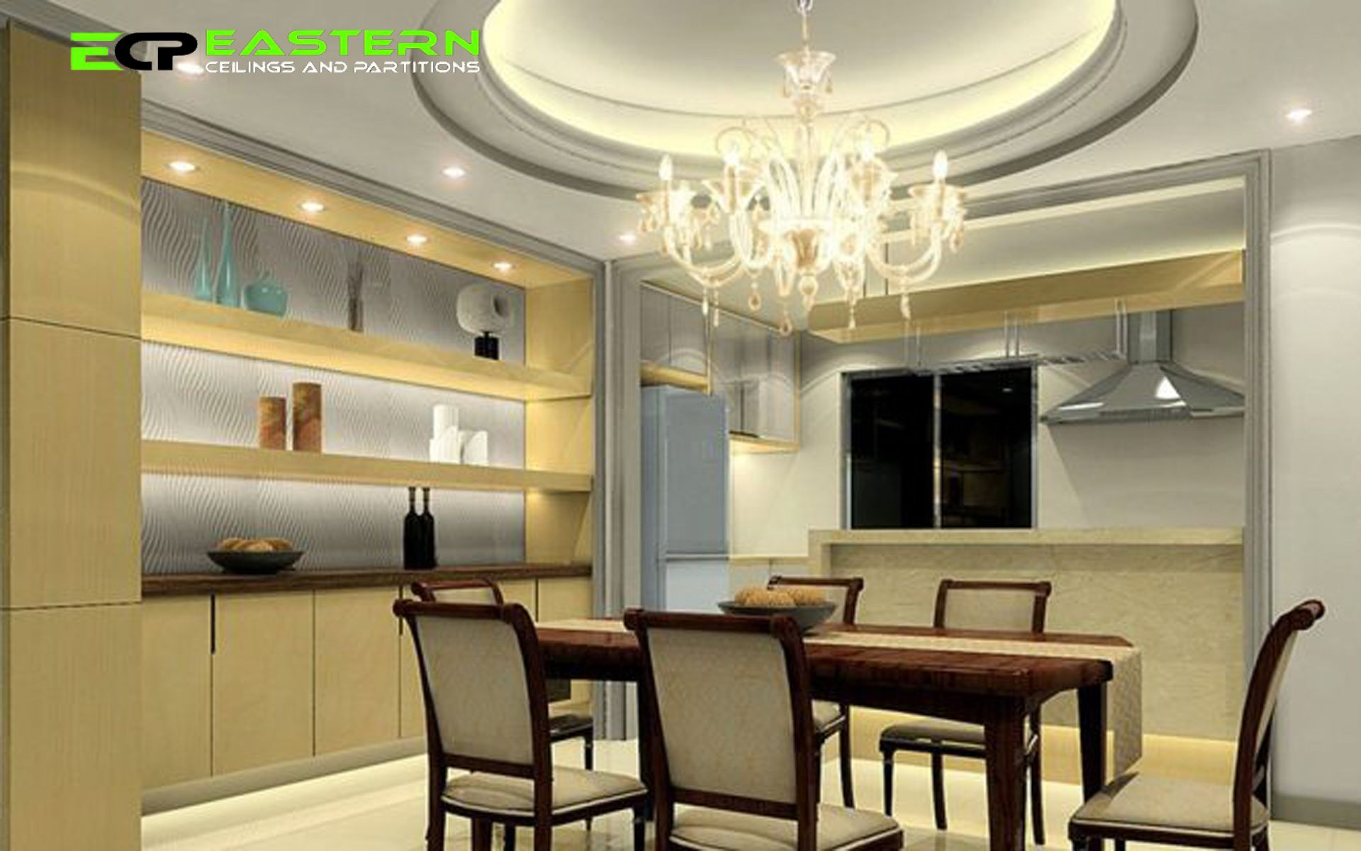 Dining Room Ceiling Design With Round Tray Ceiling And Beautiful