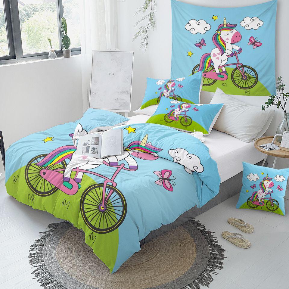 unicorn girly bedding set for girls  unilovers  girly