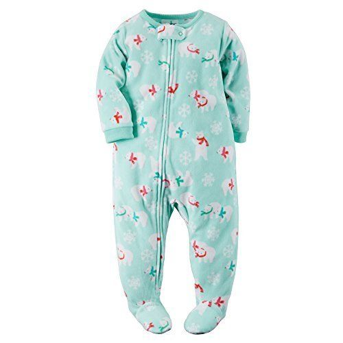 4c5b47c55 Carters Baby Girls Fleece Pajamas 18 Months Polar Bear Print   Find ...