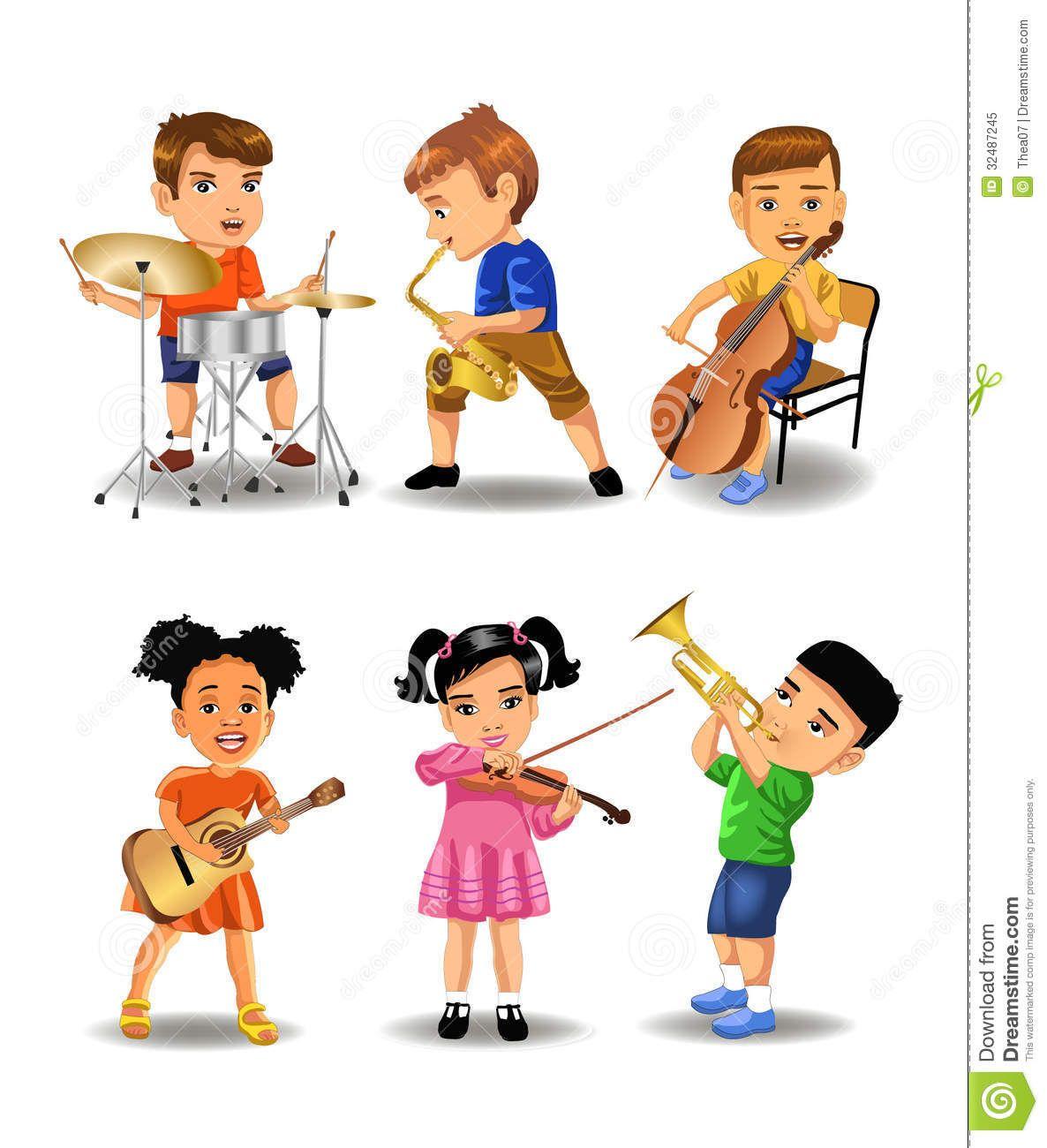 Worksheet Play Musical Instruments children playing musical instruments clipart googlom googlom