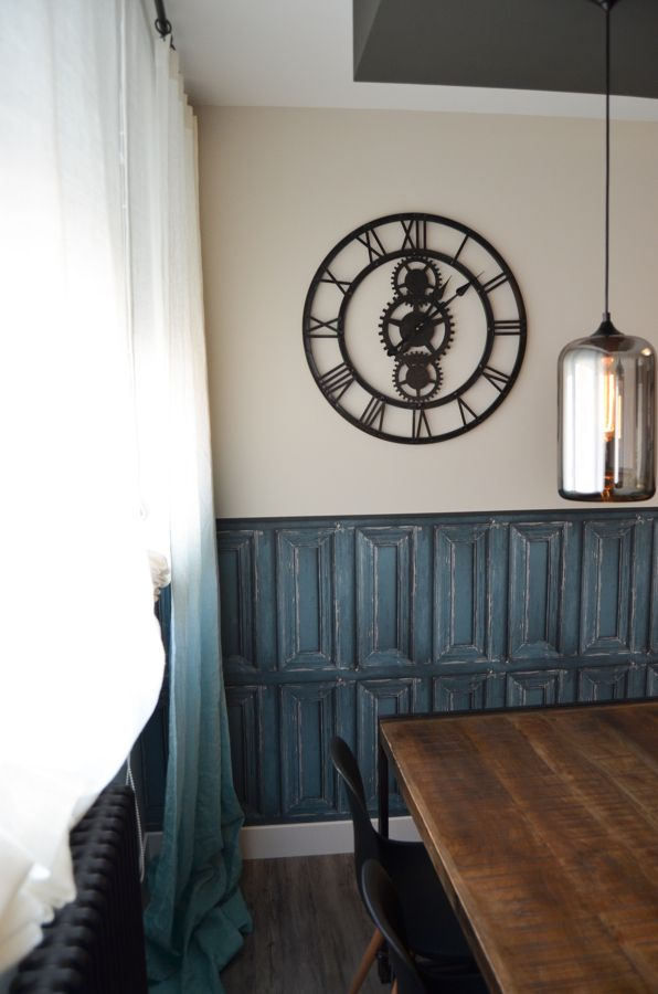 Decoraci n sal n reloj industrial vintage antiguo pared relojes decoracion salones Relojes de decoracion