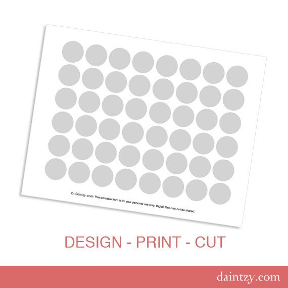 Mini Cupcake Topper Printable Template   DIY Blank Make Your Own   Make  Your Own Gift  Blank Gift Vouchers Templates Free