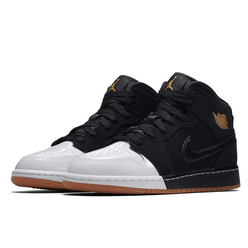 533392e95ad Nike Air Jordan 1 Mid GG - Gold and Gum Pack (555112-021) USD 120 ...