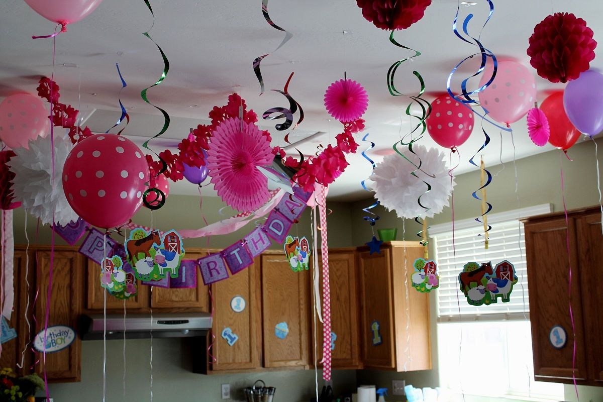 Happy Birthday Decoration Ideas For Home Images Happy Birthday - Home-party-decoration-ideas