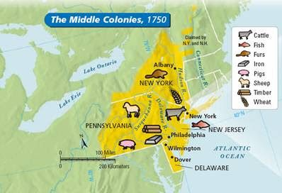 resources in middle colonies | Middle Colonies Map | middle colonies on
