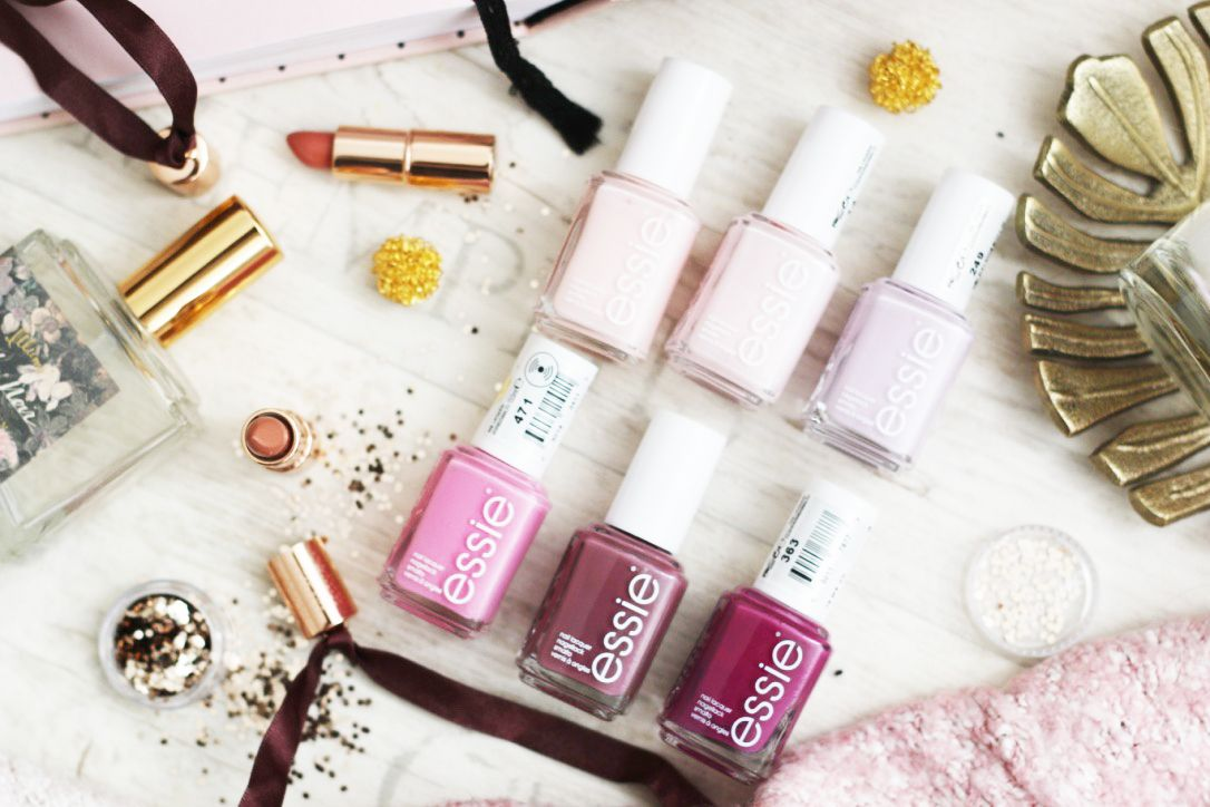 favourite spring essie nail polishes in a nice flatlay on my beauty ...
