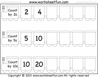 Skip Counting by 2, 5 and 10 – Worksheet Free | SecondGradeSquad.com ...