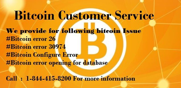 bitcoin customer service number