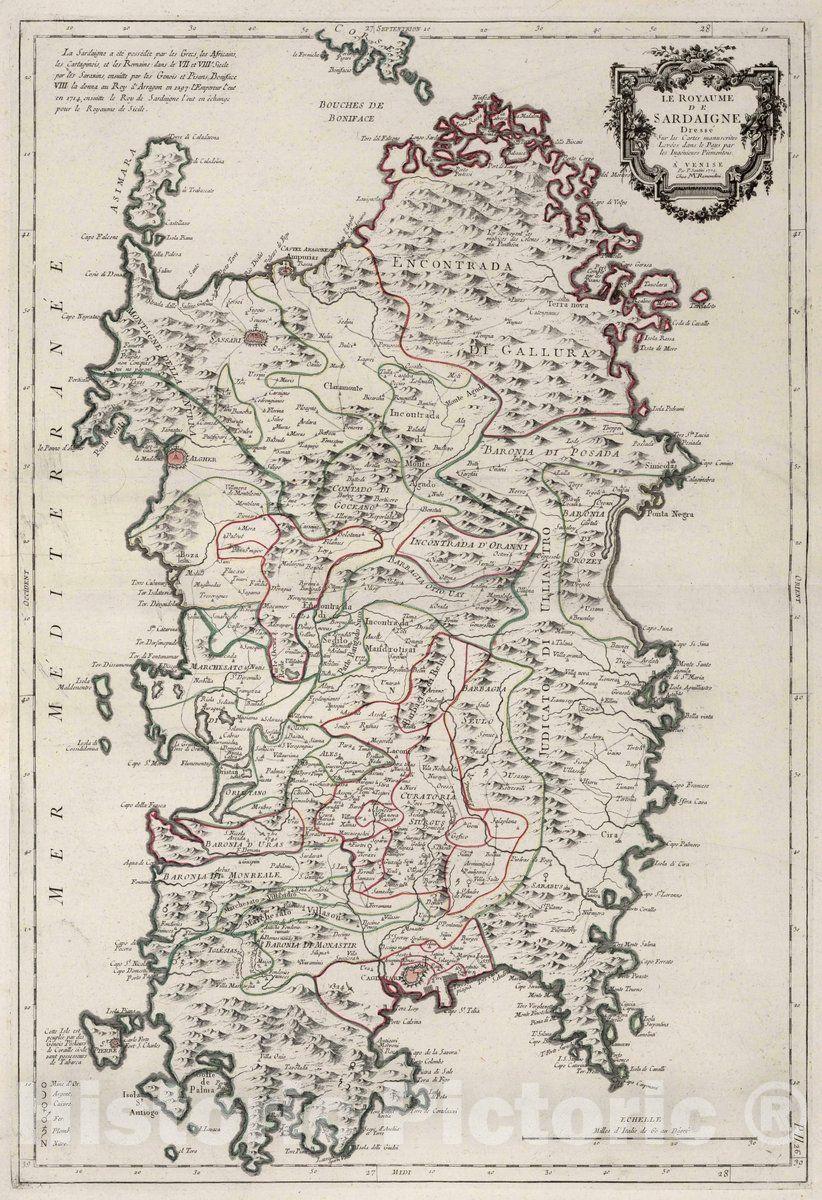 Cartina Antica Sardegna.Historic Wall Map Sardinia Italy 1779 26 Le Royaume De Sardaigne Vintage Wall Art Ancient Maps Italy Map Cartography Map