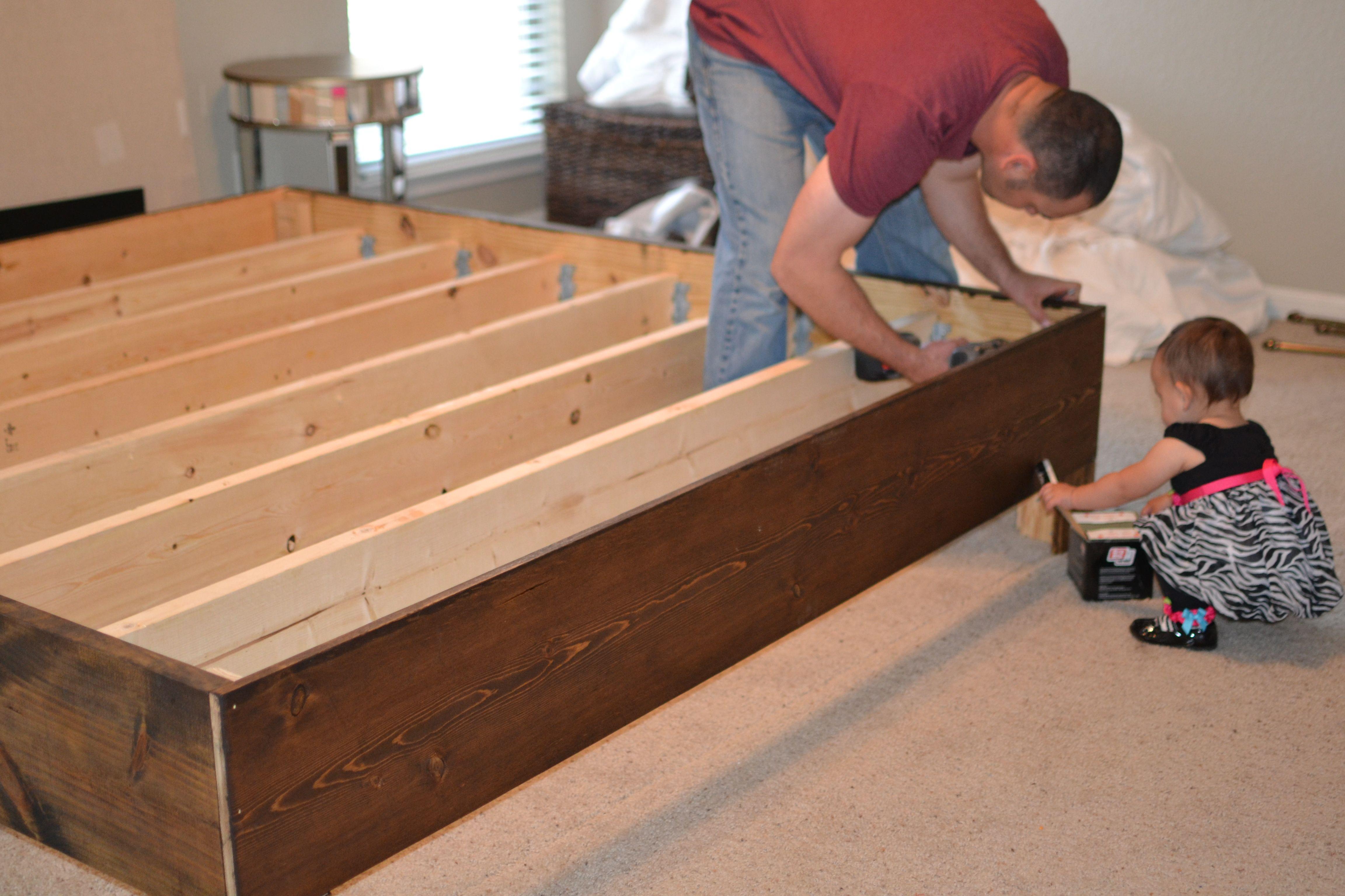 diy rustic bed frame iNGF3Kkm Rustic bed frame, Home diy