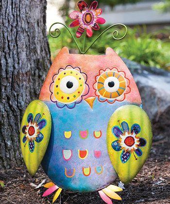 New Creative Wild Garden Owl Yard Art Garden Stake