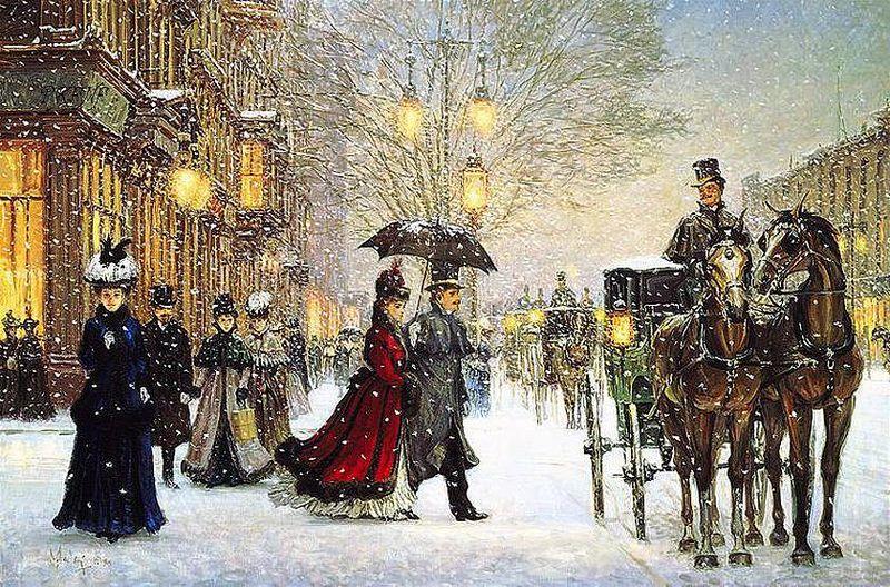 Vintage Winter Painting