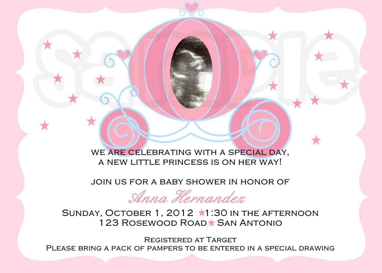Princess Baby Shower Invitation. $1.00, via Etsy.   baby showers ...