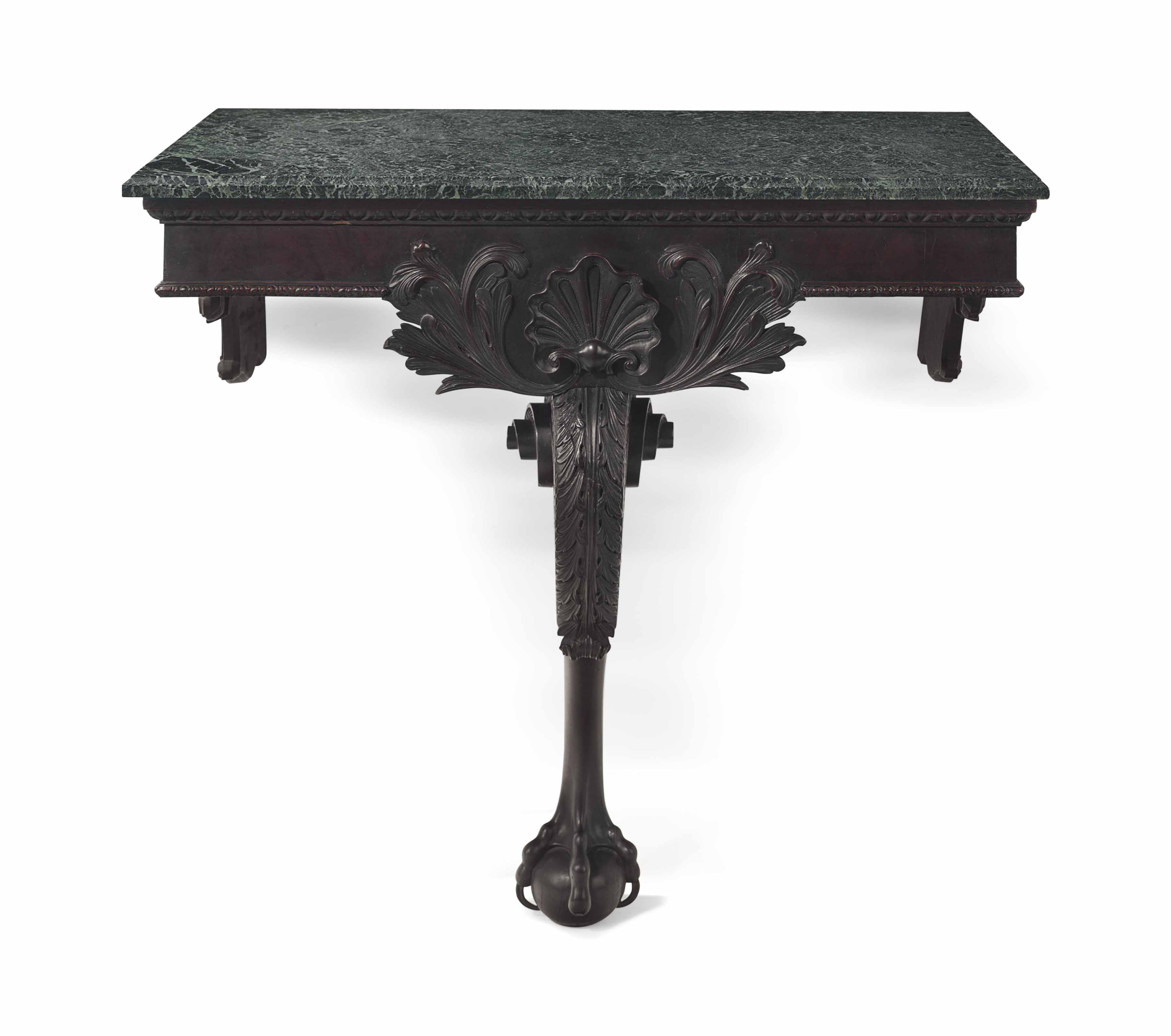 Date Unspecified An Irish George Ii Mahogany Console Table Mid 18th Century Price Realised Usd 40 000 Console Table Mahogany Wall Table