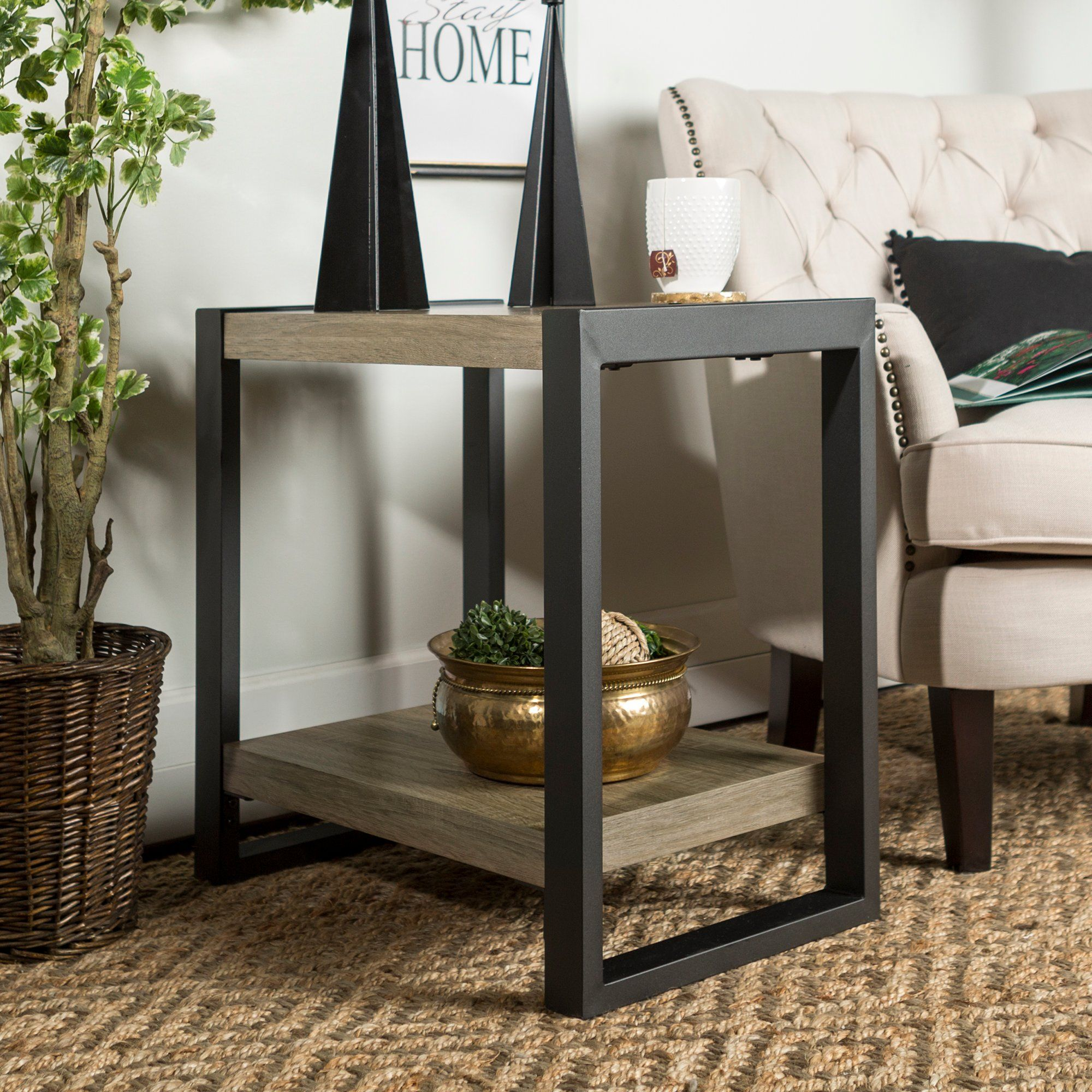 Driftwood Gray 24 Inch Side Table