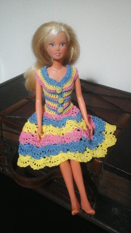 Roupinhas de Crochet para a Barbie | Crochet Barbie Clothes ...