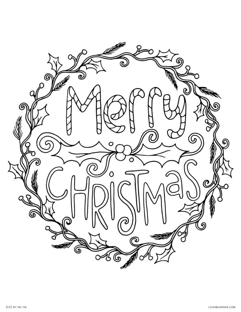 Merry Christmas Coloring Pages Holiday Coloring Pages Pinterest