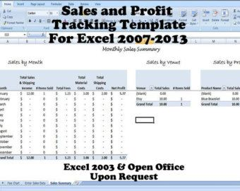 Sales And Profit Tracking Template  For Multiple Venues  Bossref