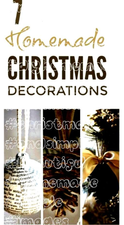 DIY Christmas decorations  beautiful Scan Simple Homemade Christmas Ornaments  DIY Christmas decorations  beautiful Scandinavian and rustSimple Homemade Christmas Orname...