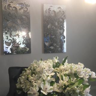 Mosaic Mirrored Wall Panel | Mirror panel wall, Mosaic, Wall