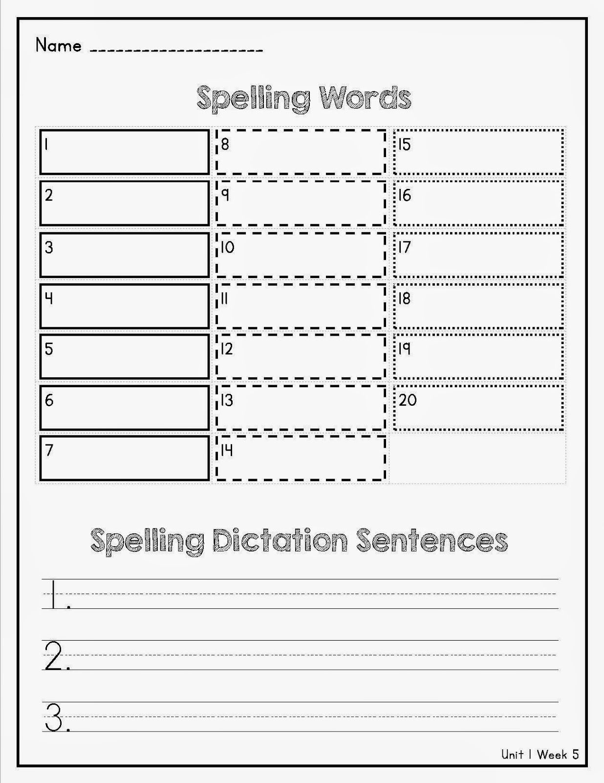 Term 1 Spellingvocabulary Test For Wonders The Best Of Lorys 2nd