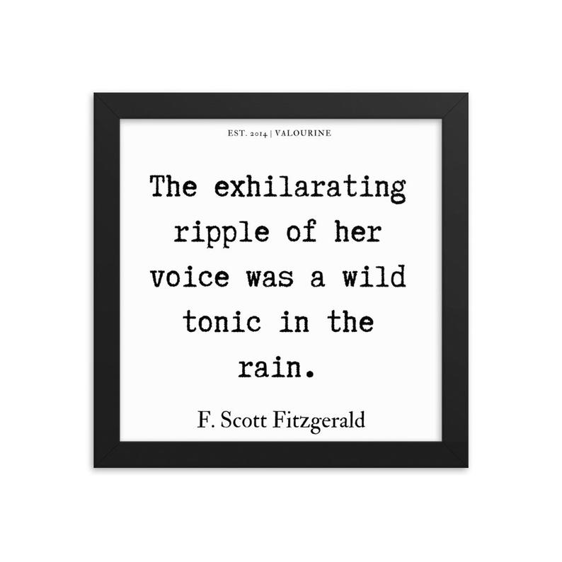 73  | Framed poster   | F.Scott Fitzgerald Quote | 191212 #philosophicalquotes