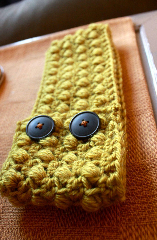 Crocheted Head Band in Green Apple. $18.00, via Etsy.