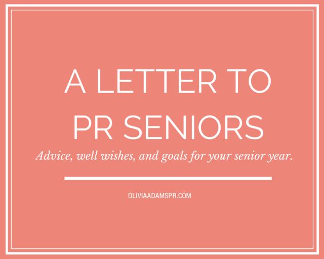 A Letter To Pr Seniors   Public Relations    Public