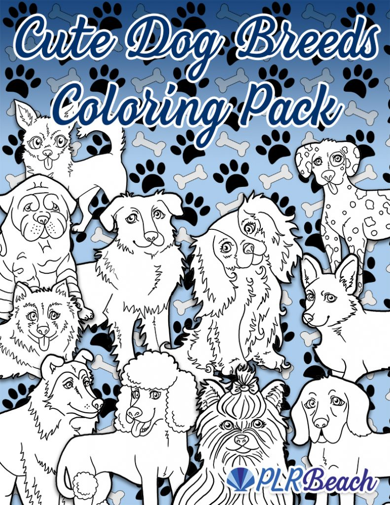 Cute Dog Breeds Coloring Pack 30 Images Plr Beach Cute Dogs Breeds Dog Coloring Book Dog Breeds