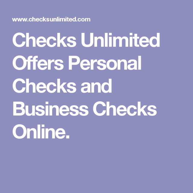 Checks unlimited offers personal checks and business checks online checks unlimited offers personal checks and business checks online reheart Images