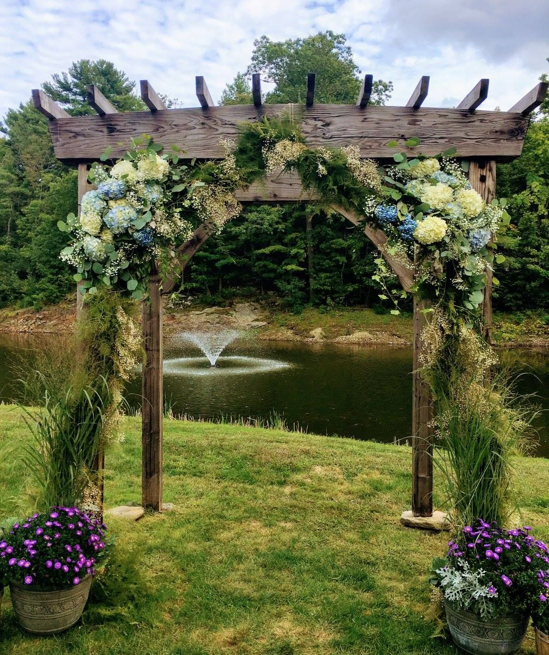 The Wedding Arch At The Fosters Pond Venue, York, Maine