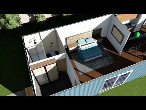 1 12 Scale Shipping Container House architectural model