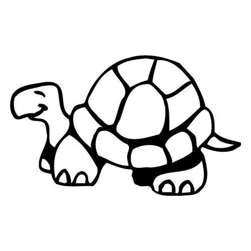 Turtle Die Cut Vinyl Decal PV995