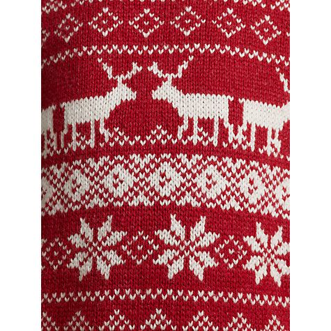 Red Fair Isle Fabric with Snowflakes & Reindeer | ::Fantastic ...